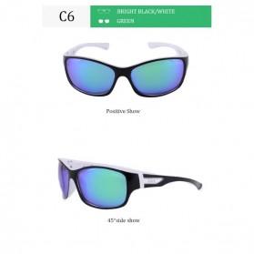 AOZE Kacamata Frame Classic Polarized Sunglasses UV400 - C Style - Black/Gray - 3