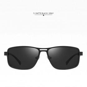 AOFLY Kacamata Frame Metal Kotak Polarized Sunglasses UV400 - 5925 - Black - 2