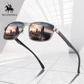 AOFLY Kacamata Frame Metal Kotak Polarized Sunglasses UV400 - 5925 - Black - 3