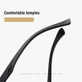 AOFLY Kacamata Frame Metal Kotak Polarized Sunglasses UV400 - 5925 - Black - 4