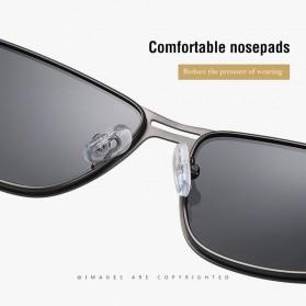 AOFLY Kacamata Frame Metal Kotak Polarized Sunglasses UV400 - 5925 - Black - 6