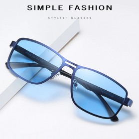 AOFLY Kacamata Frame Metal Kotak Polarized Sunglasses UV400 - 5925 - Black - 8