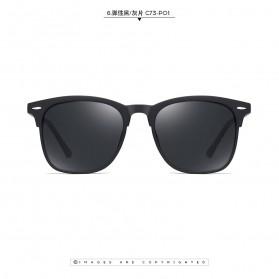 MERRYS Kacamata Frame Classic Polarized Sunglasses UV400 - 3323 - Black - 2