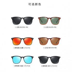 MERRYS Kacamata Frame Classic Polarized Sunglasses UV400 - 3323 - Black - 6