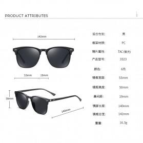 MERRYS Kacamata Frame Classic Polarized Sunglasses UV400 - 3323 - Black - 7