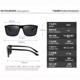 AORON Kacamata Polarized Sunglasses UV Protection - 6625 - Gray - 5
