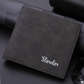 Slardar Dompet Kulit Pria Nubuck Style - D1167 - Black