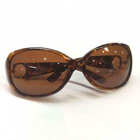 MERRYS Kacamata Frame Classic Polarized Sunglasses  - 4975 - Brown - 4