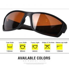 TAGION Kacamata Driving Cycling Sporty Polarized Sunglasses - 5102 - Brown - 7