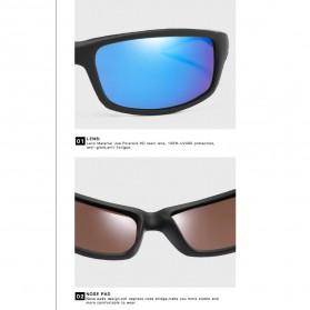 AOZE Kacamata Fashion Polarized Sunglasses UV400 - KPD190 - Black/Blue - 2