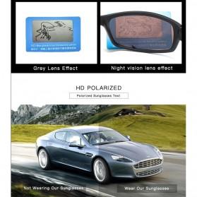 AOZE Kacamata Fashion Polarized Sunglasses UV400 - KPD190 - Black/Blue - 5