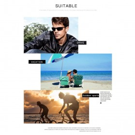 AOZE Kacamata Fashion Polarized Sunglasses UV400 - KPD190 - Black/Blue - 6