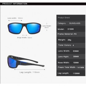 AOZE Kacamata Fashion Polarized Sunglasses UV400 - KPD190 - Black/Blue - 7