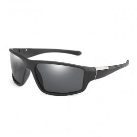 AOZE Kacamata Fashion Polarized Sunglasses UV400 - KPD190 - Black/Black