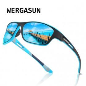 WERGASUN Kacamata Fashion Polarized Sunglasses UV400 - 3066 - Black/Black - 2