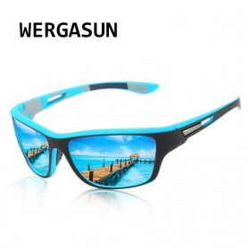 WERGASUN Kacamata Fashion Polarized Sunglasses UV400 - 3066 - Black/Black - 3