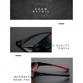 XIRAN Kacamata Fashion Polarized Sunglasses UV400 - P3016 - Black/Black - 5