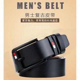 Dandall Tali Ikat Pinggang Pria Kulit Desain Premium Luxury Belt - Black - 4