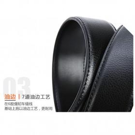 BAYIDA Tali Ikat Pinggang Gesper Kulit Luxury Automatic Buckle - WQE820 - Black - 3