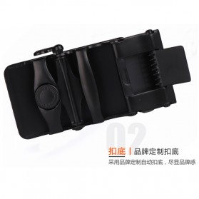BAYIDA Tali Ikat Pinggang Gesper Kulit Luxury Automatic Buckle - WQE820 - Black - 4