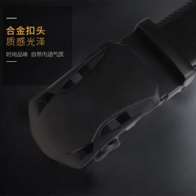 BAYIDA Tali Ikat Pinggang Gesper Kulit Luxury Automatic Buckle - WQE820 - Black - 6