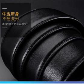 BAYIDA Tali Ikat Pinggang Gesper Kulit Luxury Automatic Buckle - WQE820 - Black - 7