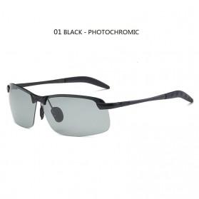 GIAUSA Kacamata Photochromic Polarized Sunglasses UV400 - G3043 - Black - 1
