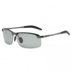 GIAUSA Kacamata Photochromic Polarized Sunglasses UV400 - G3043 - Black - 5