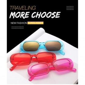 Yueyaolao Kacamata Trendy Oval Frame Sunglasses - UV4976 - Black - 2