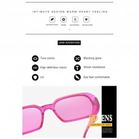 Yueyaolao Kacamata Trendy Oval Frame Sunglasses - UV4976 - Black - 3