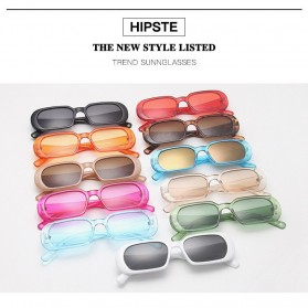 Yueyaolao Kacamata Trendy Oval Frame Sunglasses - UV4976 - Black - 4