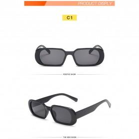 Yueyaolao Kacamata Trendy Oval Frame Sunglasses - UV4976 - Black - 5