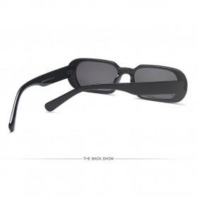 Yueyaolao Kacamata Trendy Oval Frame Sunglasses - UV4976 - Black - 6