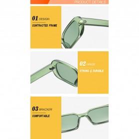 Yueyaolao Kacamata Trendy Oval Frame Sunglasses - UV4976 - Black - 7