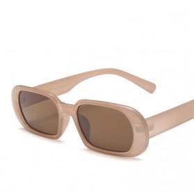 Yueyaolao Kacamata Trendy Oval Frame Sunglasses - UV4976 - Brown