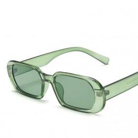 Yueyaolao Kacamata Trendy Oval Frame Sunglasses - UV4976 - Green - 1