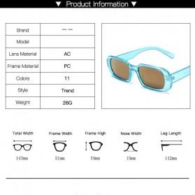 Yueyaolao Kacamata Trendy Oval Frame Sunglasses - UV4976 - Green - 9