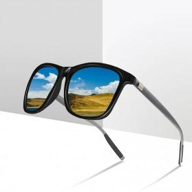 DJXFZLO Kacamata Frame Classic Retro Polarized Sunglasses UV400 - C4 - Black - 3