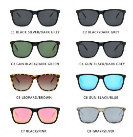 DJXFZLO Kacamata Frame Classic Retro Polarized Sunglasses UV400 - C4 - Black - 4