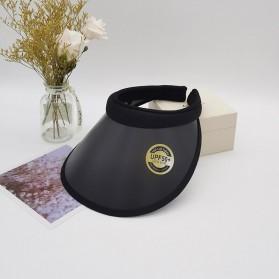 Pakaian Wanita - GLORIOU Topi Pantai Visor Hats Wanita Anti UV - SP21 - Black