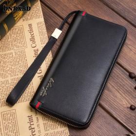Wallach Dompet Pria Men Wallet Clutch Leather Long Zipper - 0610 - Black