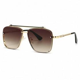 JackJad Kacamata Classic Stylis Sunglasses - A102 - Golden