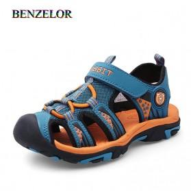 BENZELOR Sepatu Sandal Anak Pria Wanita Cute Outdoor Anti Slip Size 28 - BZ002 - Orange