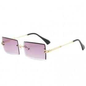 JackJad Kacamata Classic Stylis Sunglasses - A103 - Golden/Gray