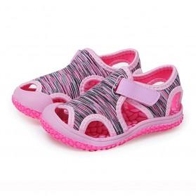 SZX Sepatu Sandal Anak Pria Wanita Cute Outdoor Anti Slip Size 23 - TE202 - Pink