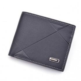 DAIQISI Dompet Pria Casual Wallet Bahan Kulit PU - 3088 - Black