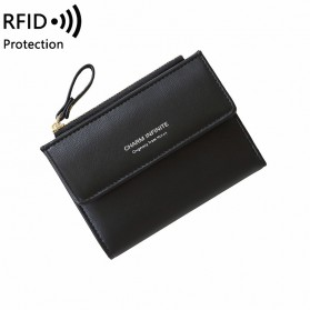 LORETI Dompet Wanita Casual Wallet Bahan Kulit PU - 1610 - Black