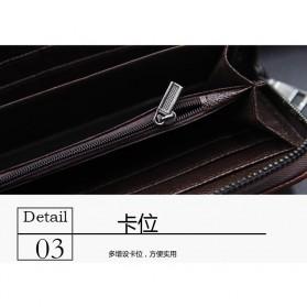 MenBense Dompet Pria Clutch Model Panjang - 888-4 - Black - 5