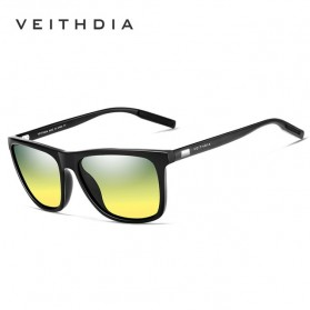Veithdia Kacamata Retro UV Polarized Sunglasses - 6108 - Yellow