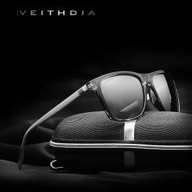 Veithdia Kacamata Retro UV Polarized Sunglasses - 6108 - Yellow - 2